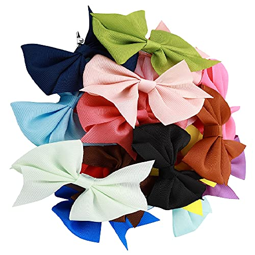 Hair Bows For Little Girls (20 Pcs) - Best For Toddlers, Babies, Kids & Decoration - 3.5 Inch Bows Set With Crocodile Clips – Available In Multicolor - Halloween Christmas Gift