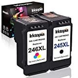 Inktopia 1 Combo Remanufactured Ink Cartridge Replacement for Canon PG 245XL and CL 246XL 245 XL 246 XL (1 Black 1 Color) with Ink Level Indicator Used in PIXMA iP2820 MG2420 MG2520 2920 MG2922 MG2924