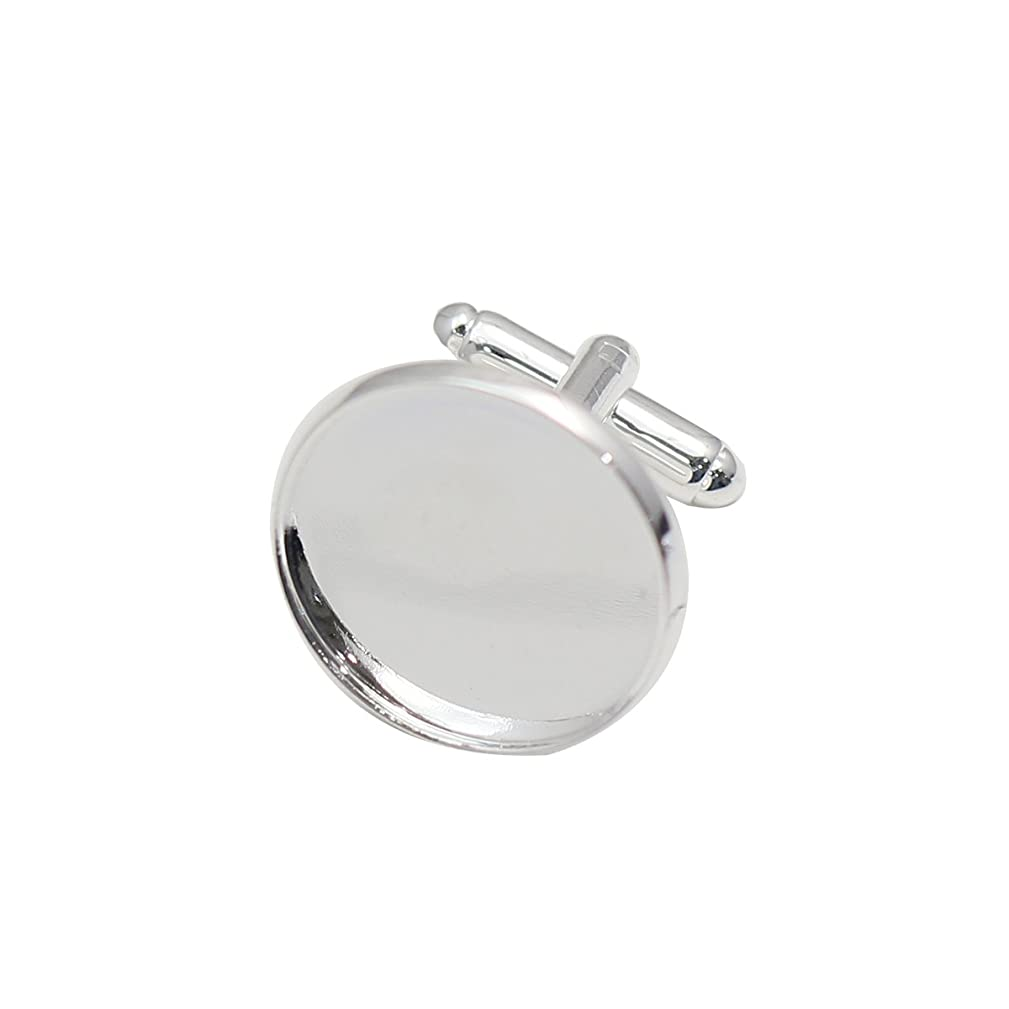 Brass Cufflink Blanks Fit 20mm Circel Bezel for Personalized Making Gift for Him 5Pair per Lot