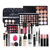 24 piezas Kits de Maquillaje, Set de Cosméticos Todo en Uno, Set de Regalo de Maquillaje Kit de Inicio Completo con Sombras de Ojos, lápiz Labial, Kit de Cosméticos para Niñas Mujeres