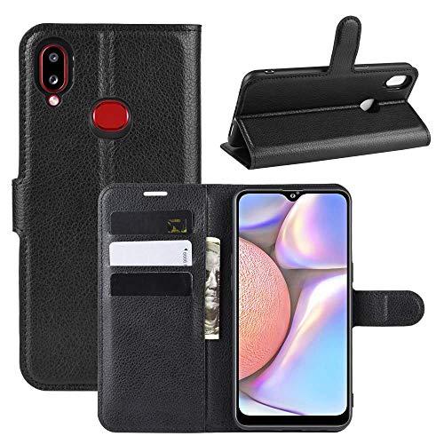 Capa Capinha Carteira 360 Para Samsung Galaxy A10s Tela De 6.2Polegadas Case Couro Flip Wallet - Danet (Preta)