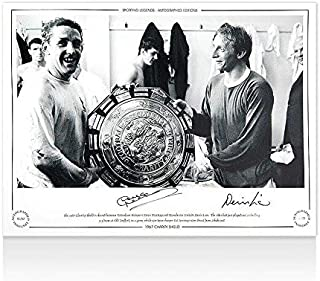 Dave Mackay & Denis Law Signed Photo - 1967 Charity Shield Autograph - Autographed Soccer Photos