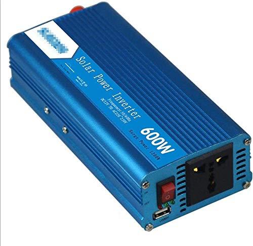Inversor de potencia de onda sinusoidal pura 600W / 1200W DC 12V 24V a AC 110V 220V Convertidor de cargador de coche con socket universal y puertos USB Adaptador automático fuente de alimentación para