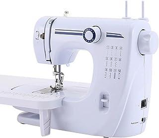 電動ミシン 家庭用ミシン 12種類の縫い模様 返し縫い ダブルスレッド 機能充実 操作簡単 手作り DIY 縫製 持ち運び便利 フリーアーム仕様 コンパクト