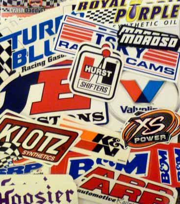 Racing Decal Sticker 26 Piece Assortment Pack in Pairs By Crash Daddy