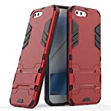 Case for Asus ZenFone 4 ZE554KL (5.5 inch) 2 in 1 Shockproof with Kickstand Feature Hybrid Dual Layer Armor Defender Protective Cover (Red)