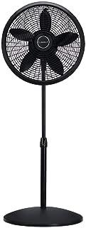 Lasko 1827 18″ Elegance & Performance Adjustable Pedestal Fan, Black - Features Oscillating Movement Tilt-back Fan Head (Renewed)