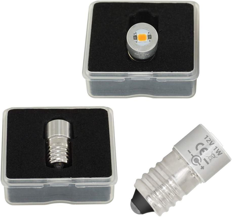 E10 Base 1w LED Upgrade Torch Flashlight Bulbs Replacement Part 3v 3.7v 4.5v 6v 7.5v 9v 12v 15v for 3 4 5 6 Cell D//C Bicycle Mini Headlight Lamp Cold White, 4 Cell C/&D 6V