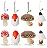 Kitan Club LED Mushroom Charms or Mini Light Plastic Toys - Beautiful, Lightweight Charms - Blind Box Includes 1 of 8 Collectable Figurines - Authentic Japanese Design - Made from Durable Plastic
