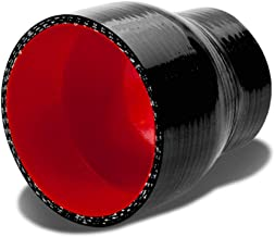 2.25 inches To 2.75 inches Straight Turbo/Intercooler/Intake Piping Coupler Reducer Silicone Hose (Black & Red)