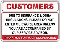 保険OSHA規制、作業エリアにはアルミニウム金属の看板を入力しないでください