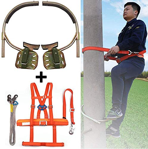XIAOWANG BäUme Artefakt, Steigeisen Baumklettern,Fußschnalle des Elektrikers,Tree Climbing Spikes und Baum Klettern Werkze Ausrüstung Baumklettern Spike Werkzeug,350model