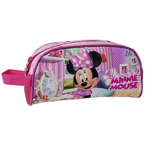 DISNEY Trousse de Toilette Minnie Vanity, 22 cm, Rose