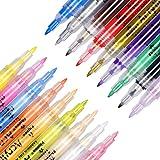ACTGON Rotuladores de Pintura Acrílica, 18 Color 0.7mm Impermeables Marcadores de Pintura Acrílica para Metal, Madera, Vidrio, Plástico, Porcelana