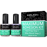 Karlash Professional Natural Nail Prep Dehydrate & Bond Primer, Nail Protein Bond, Superior Bonding Primer for Acrylic Powder and Gel Nail Polish 0.5 oz
