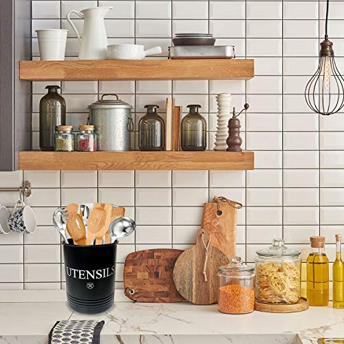 Steelware Central Utensil Holder Large Crocks Kitchen (black)