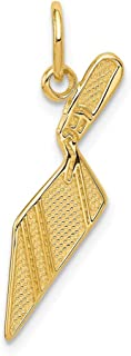 14K Yellow Gold Jewelry Pendants & Charms 15 mm 25 mm Brick Trowel Charm