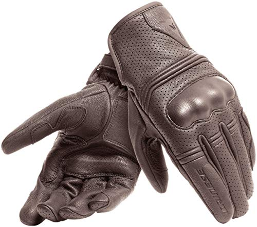 DAINESE Corbin Air Unisex Gloves, Guanti Moto Estivi Pelle, Marrone Scuro, M
