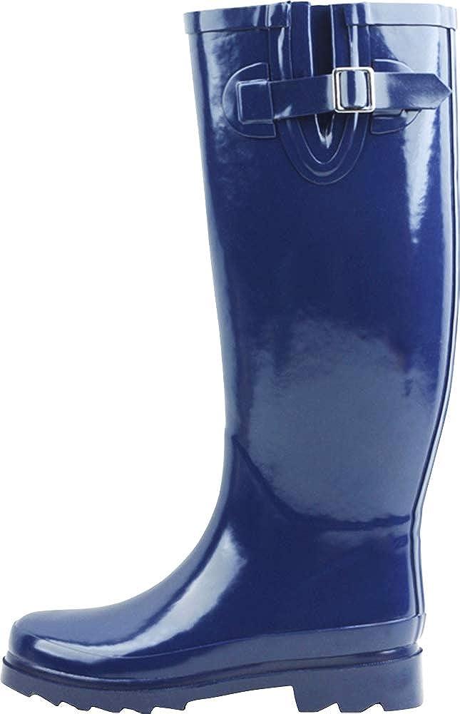 Cambridge Select Women's Classic Waterproof Welly Mid-Calf Rain Boot