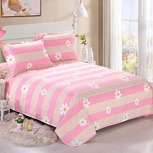 NJUIK 2019 Solid Color Waterproof Bed Sheet Queen King Size Flat Sheet Single Double Bed Linen Polyester Mattress Protector Cover,3,230cmX150cm