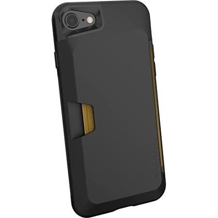 Smartish iPhone 7/8/SE (2020) Wallet Case - Wallet Slayer Vol. 1 [Slim + Protective + Grip] Credit Card Holder for Apple iPhone SE 2020 & iPhone 7/8 - [Silk] -Black Tie Affair