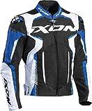 Ixon - Chaqueta de moto Gyre negro, blanco y azul, talla XXL