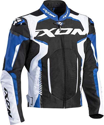 Ixon - Chaqueta de moto Gyre, color negro, blanco y azul, talla XL