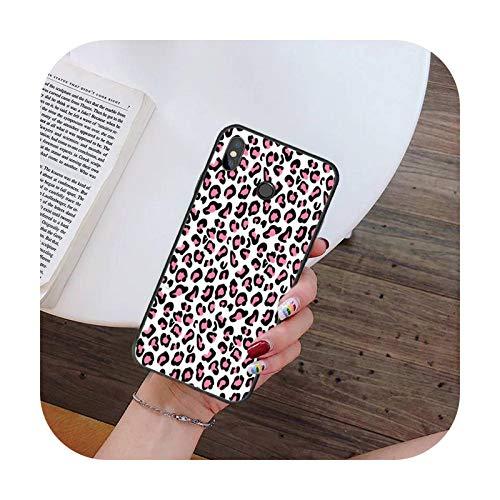 Hopereo Moda Sexy Leopard Print Panther teléfono caso para Xiaomi para Redmi 4X 5Plus 6A 7 7A 8 8A para Redmi Note 4 5 7 8 9 Nota 8T 8Pro 9Pro-A15-Para Redmi Note4