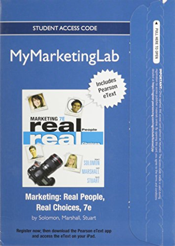 NEW MyMarketingLab with Pearson eText -- Access Card -- for Marketing: Real People Real Choices