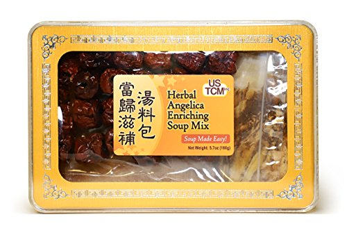 Herbal Angelica Enriching Soup Mix Soup Base Blood Enriching 當歸滋補湯料包 Soup Made Easy! 3-4 Servings 5.7oz