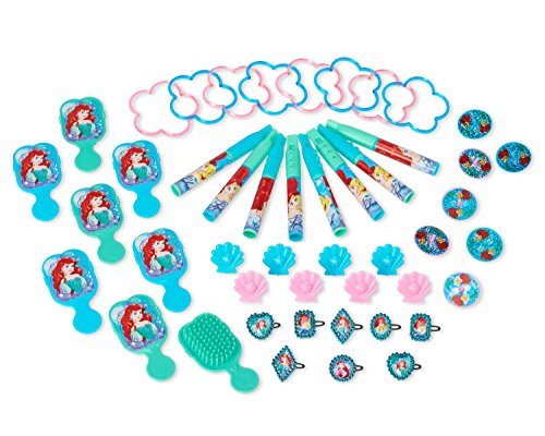 American Greetings Disney Ariel Party Supplies Mega Value Favor Pack, 48-Count