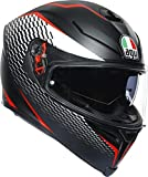 AGV CASCO K5 S MULTI MPLK THUNDER MATT BLACK/WHITE/RED L