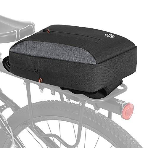Lixada Bicycle Trunk Bag 2-in-1 Cycling Pannier Bag Multifunctional Bike Rear Rack Bag Carrier Pack Chest Sling Bag