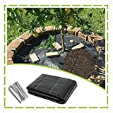 XUEXUE Weed Barrier Fabric, Weed Membrane Water Permeable and Tearproof 90gsm Landscape Ground Cover Membrane, with 100 Securing Pegs (Color : Black, Size : 2X15M)