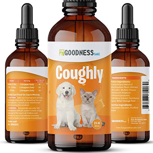 Kennel Cough Medicine for Dogs - Natural Dog Cough Medicine for Colds & Allergies - Natural Kennel Cough Treatment with Mullein Leaf & Elderberry