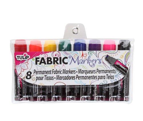 Tulip Phat Lot de 8 marqueurs de tissu Jumbo Multicolore