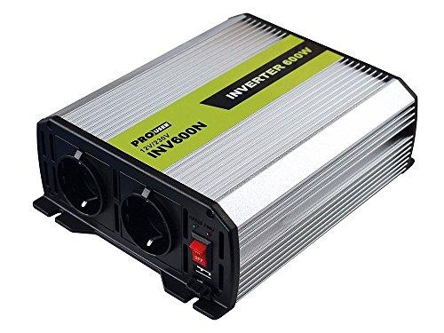 Pro User 16592 Spannungswandler 600 W, 12 auf 230 V, mit 2 Steckdosen