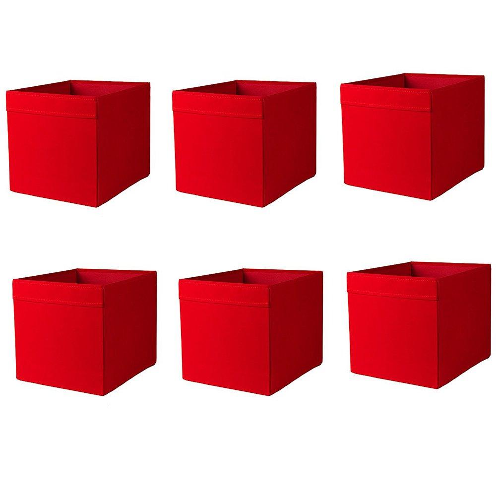 Ikea Drona Box, roja (Pack de 6): Amazon.es: Hogar