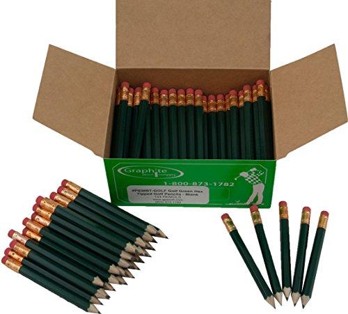 シャープに半分鉛筆六角、Pew (ゴルフ鉛筆鉛筆、スコア鉛筆、短い鉛筆) (バルクボックスof 144?)