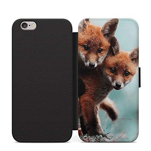 Baby Foxes - Funda de piel con tapa para Samsung Galaxy A21s