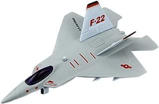Kylin Express Kid's Toys Mini Alloy Airplane Models, F-22 Raptor Fighter, Random Color