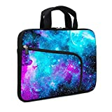 XMBFZ 11.6' 12.2 inches Laptop Sleeve Chromebook Case Ultrabook Case Notebook Sleeve PC Messenger Bag Tablet Case Neoprene Handle Sleeve for Kids Men Women, Two Pockets (Blue galaxys)
