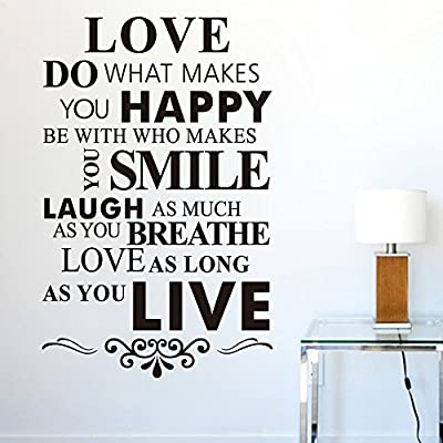 Misslight I Love You Words Wall Stickers Decal Removable Home Decor Vinyl Art Mural