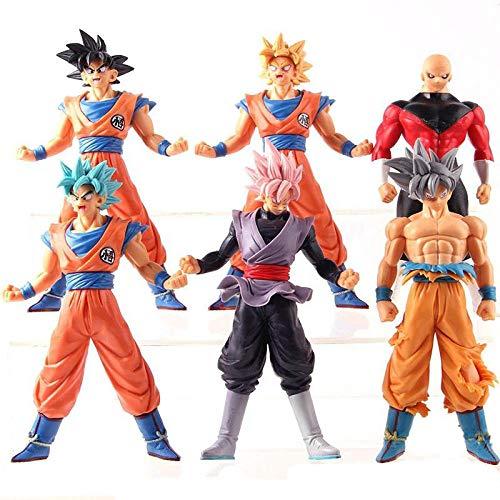 CXNY Banpresto Dragon Ball The Super Warriors Special Figure-Super Saiyan Son Gokou Goku Black jiren 6 Piezas/Set