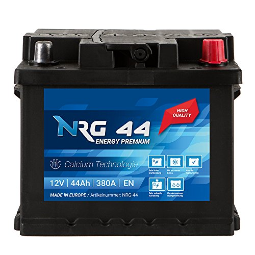 NRG Premium Autobatterie 12V 44Ah ersetzt 36AH 40AH 45AH 46AH 47AH Batterie