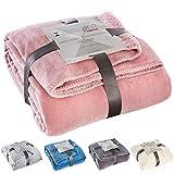Zeitgeist Decke Tallinn, Tagesdecke rosa 150x200 cm, Mikrofaser Kuscheldecke, weiche Decke in vielen erhältlich