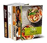 Southern Asian Cookbook: 4 Books In 1: 280 Recipes For Authentic Indian And Thai Food (English Edition)