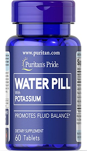 Water Pill, 60 Tablets Bottle, with Potassium (K), Fast Free P&P