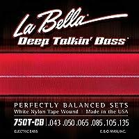 LA BELLA (ラベラ) 6弦ベース弦 750T-CB White Nylon Tape 6-String Light