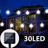 Solar String Lights Globe Crystal Balls Waterproof LED Fairy Lights for Garden Yard Home Party Wedding Decoration Cool White
